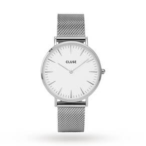 Cluse Ladies La Bohème Mesh Silver/White