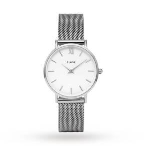 Cluse Ladies Minuit Mesh Silver/White