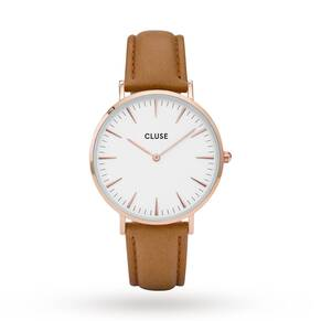 Cluse Ladies La Bohème Rose Gold White/Caramel