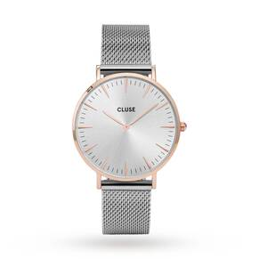 Cluse Ladies La Bohème Mesh Rose Gold/Silver