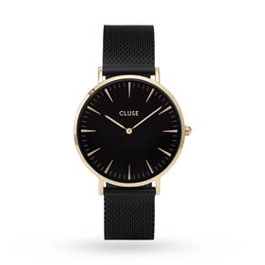 Cluse Ladies La Bohème Mesh Gold Black/Black