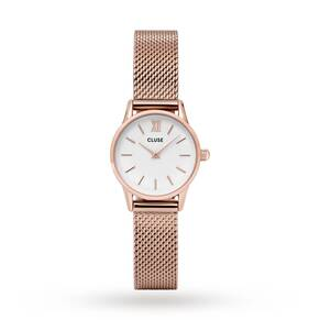 Cluse Ladies La Vedette Mesh Rose Gold/White