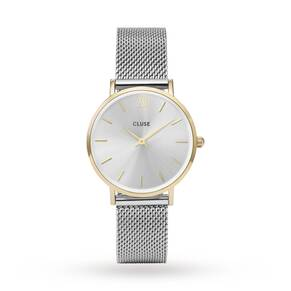 Cluse Ladies Minuit Mesh Gold/Silver