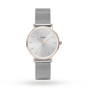 Cluse Ladies Minuit Mesh Rose Gold/Silver