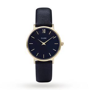 Ladies Cluse Minuit Leather Watch CL30014