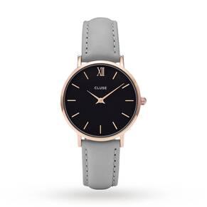 Ladies Cluse Minuit Leather Watch CL30019