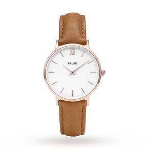 Ladies Cluse Minuit Rose Gold Watch CL30021