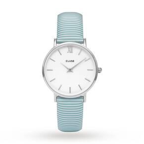 Ladies Cluse Minuit Silver Watch CL30028