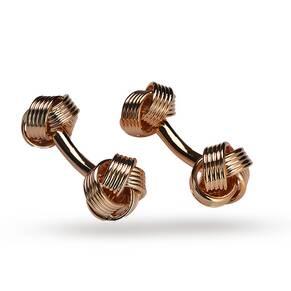 Babette Wasserman Rose Gold Plated Knot Cufflinks