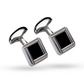 Babette Wasserman Rhodium Plated Celtic Cufflinks