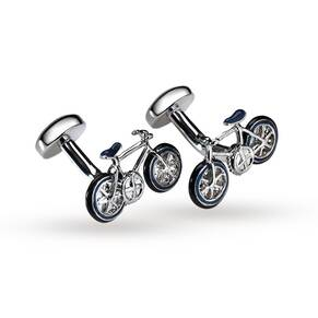 Babette Wasserman Blue Bicycle Cufflinks