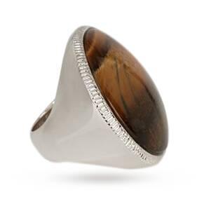 Karen Millen Round Stone Statement Ring