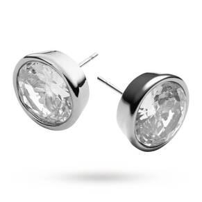 Michael Kors Silver Tone Crystal Earrings