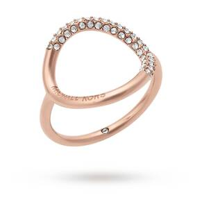 Michael Kors Rose Gold Tone Stone Set Ring