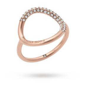 Michael Kors Rose Gold Tone Stone Set Rings