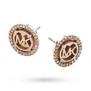Michael Kors Ladies' Rose Plating Heritage Earrings