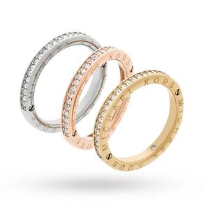 Michael Kors Three Coloured Stacking Ring