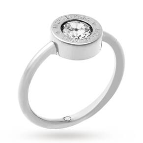 Michael Kors Silver Coloured Crystal Ring