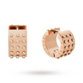 Michael Kors Gold Plated Micro Muse Huggie Earrings