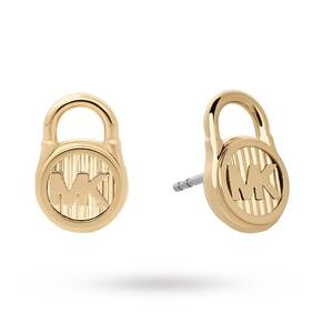 Michael Kors Hamilton Logo Padlock Stud Earrings