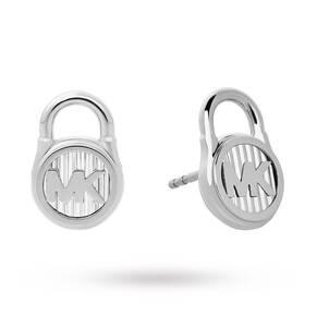 Michael Kors Hamilton Logo Padlock Stud Earrings