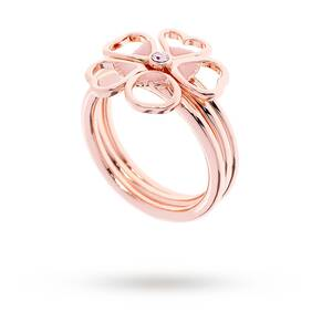 Ted Baker Leotie Rose Gold Plated Flower Ring Medium