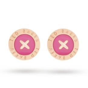 Ted Baker Enamel button Stud Earrings