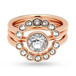 Ted Baker Rose Gold Plated Cadyna Concentric Crystal Ring ...