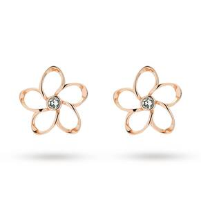 Ted Baker Jewellery Ladies' Rose Gold Plated Crystal Blossom Earrings