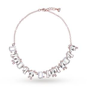 Ted Baker Rose Gold Plated Bellew Crystal Baguette Necklace