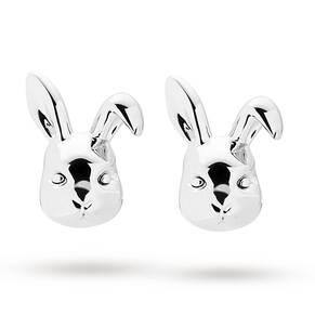 Ted Baker Silver Plated Bluebel Rabbit Earrings