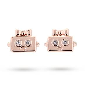 Ted Baker Rose Gold Plated Botto Robot Earrings