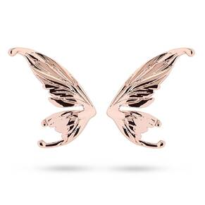 Ted Baker Rose Gold Plated Cobweb Fairy Wing Stud Earrings