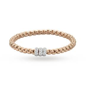 Fope 18ct Rose Gold Exclusive Flex It Olly 0.50ct Diamond Bracelet