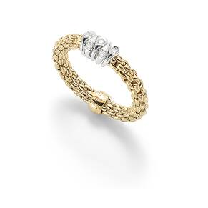 Fope 18ct Yellow Gold Flex'it Prima Ring
