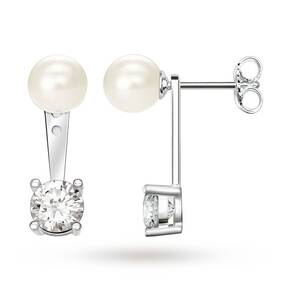 Thomas Sabo Glam & Soul Pearl And Cubic Zirconia Ear Studs