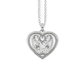 Thomas Sabo Glam & Soul Ornamental Heart Amulet Necklaces KE1542-001-12