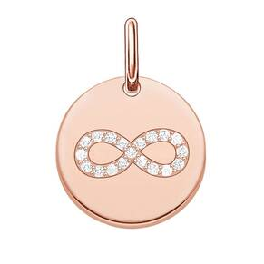 Thomas Sabo Love Coins Rose Gold Plated Infinity Disc Pendant Lbpe0004-416-14