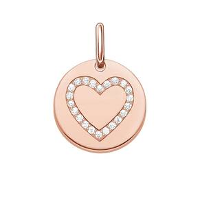 Thomas Sabo Love Coins Gold Plated Heart Disc Pendant Lbpe0005-416-14