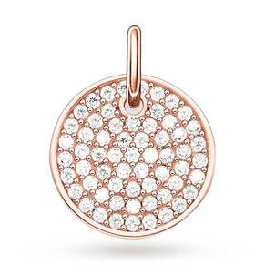 Thomas Sabo Love Coins Rose Gold Plated Pave Disc Pendant Lbpe0011-416-14