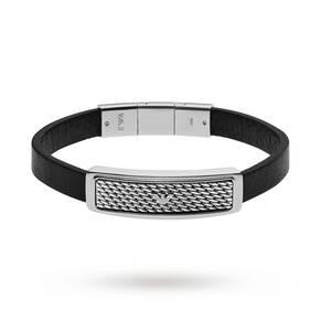 Emporio Armani Mens Deco Tonneau Mesh Two Tone Steel Bracelet EGS2139040