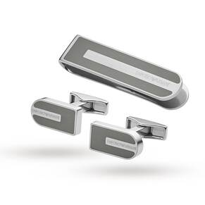 Emporio Armani Stainless Steel Cufflinks Gift Set