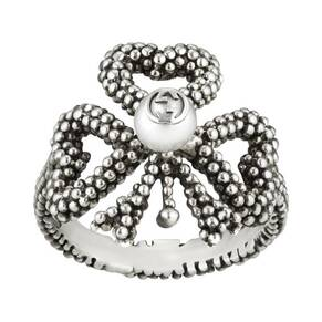 Gucci Sterling Silver Bow Ring - Ring Size K