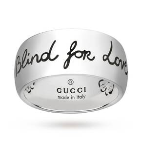 Gucci Exclusive Blind For Love 9mm Ring