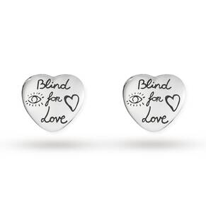 Gucci Exclusive Blind For Love Heart Studs