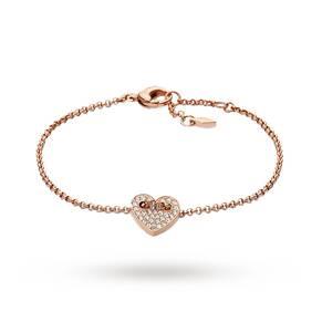 Fossil Ladies' Glitz Heart Bracelet Jf02283791