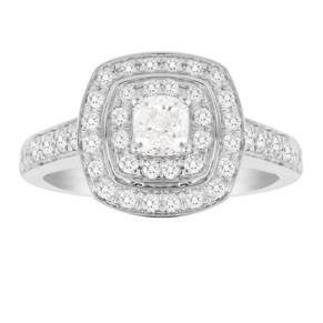Jenny Packham Cushion Cut 1.20 Carat Total Weight Double ...