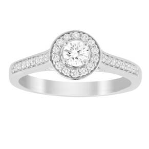 Jenny Packham Brilliant Cut 0.35 Carat Total Weight Halo ...