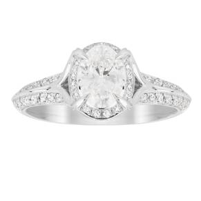Jenny Packham Oval Cut 1.10 Carat Total Weight Solitaire ...
