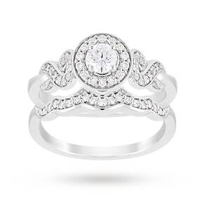 Jenny Packham Brilliant Cut 0.56 Carat Total Weight Diamo ...